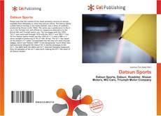 Bookcover of Datsun Sports
