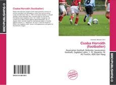 Csaba Horváth (footballer) kitap kapağı