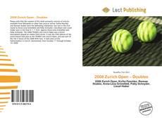 2008 Zurich Open – Doubles kitap kapağı