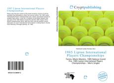 1985 Lipton International Players Championships kitap kapağı