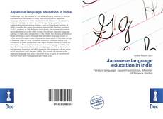 Borítókép a  Japanese language education in India - hoz