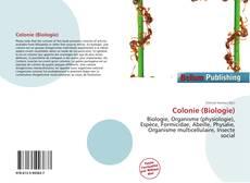 Buchcover von Colonie (Biologie)