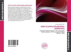 Обложка John Leckie (Australian politician)