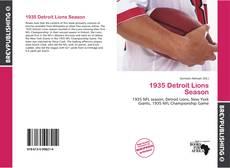 Обложка 1935 Detroit Lions Season