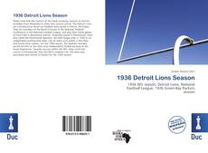 Bookcover of 1936 Detroit Lions Season