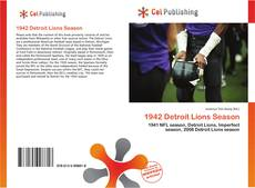 Bookcover of 1942 Detroit Lions Season