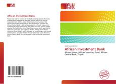 Bookcover of African Investment Bank