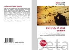 University of West London的封面