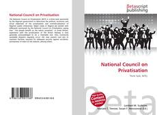 Couverture de National Council on Privatisation