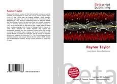 Raynor Taylor kitap kapağı