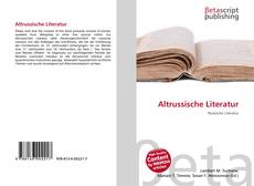 Couverture de Altrussische Literatur