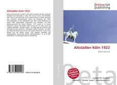 Capa do livro de Altstädter Köln 1922