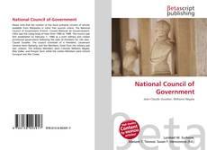 Copertina di National Council of Government