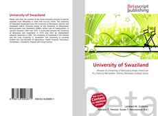 Bookcover of University of Swaziland