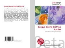 Banque Baring Brothers Sturdza kitap kapağı