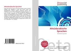 Buchcover von Altsüdarabische Sprachen