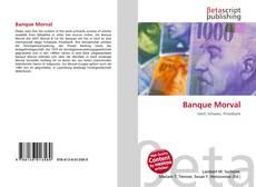 Capa do livro de Banque Morval