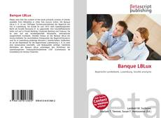 Bookcover of Banque LBLux
