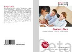 Capa do livro de Banque LBLux
