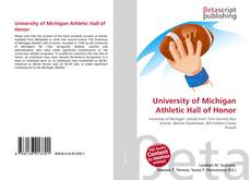 Bookcover of University of Michigan Athletic Hall of Honor