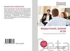 Banque Franck, Galland & Cie kitap kapağı