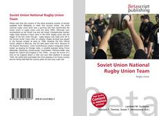 Bookcover of Soviet Union National Rugby Union Team