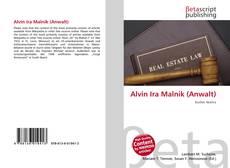 Bookcover of Alvin Ira Malnik (Anwalt)