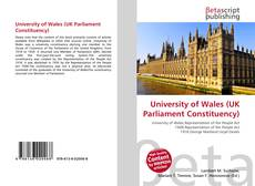 Bookcover of University of Wales (UK Parliament Constituency)