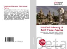 Bookcover of Pontifical University of Saint Thomas Aquinas
