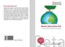 Borítókép a  Bantu Education Act - hoz