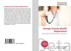 Portada del libro de Orange County Health Department