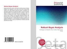 Couverture de Robust Bayes Analysis