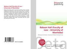 Copertina di Robson Hall (Faculty of Law – University of Manitoba)