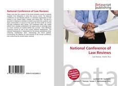 Couverture de National Conference of Law Reviews