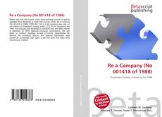 Bookcover of Re a Company (No 001418 of 1988)