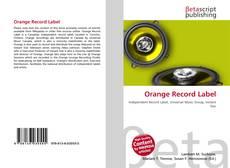 Orange Record Label的封面