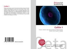 Bookcover of Cofilin 1