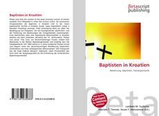 Bookcover of Baptisten in Kroatien