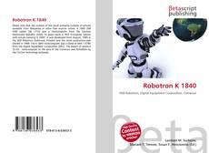 Portada del libro de Robotron K 1840