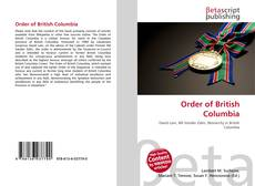 Bookcover of Order of British Columbia