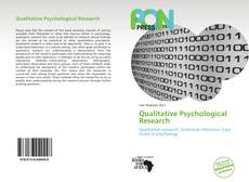Bookcover of Qualitative Psychological Research