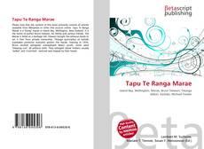 Bookcover of Tapu Te Ranga Marae