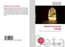 Buchcover von Baptist University College