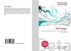 Couverture de Dirk Anger