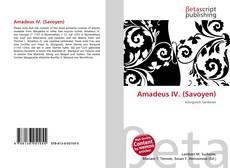 Bookcover of Amadeus IV. (Savoyen)