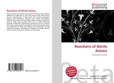 Bookcover of Reactions of Nitrile Anions