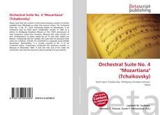 Orchestral Suite No. 4 'Mozartiana' (Tchaikovsky) kitap kapağı