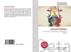 Buchcover von Samuel Vickery