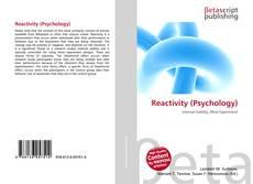 Bookcover of Reactivity (Psychology)