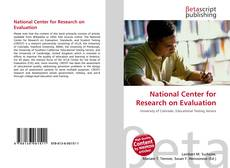 Copertina di National Center for Research on Evaluation